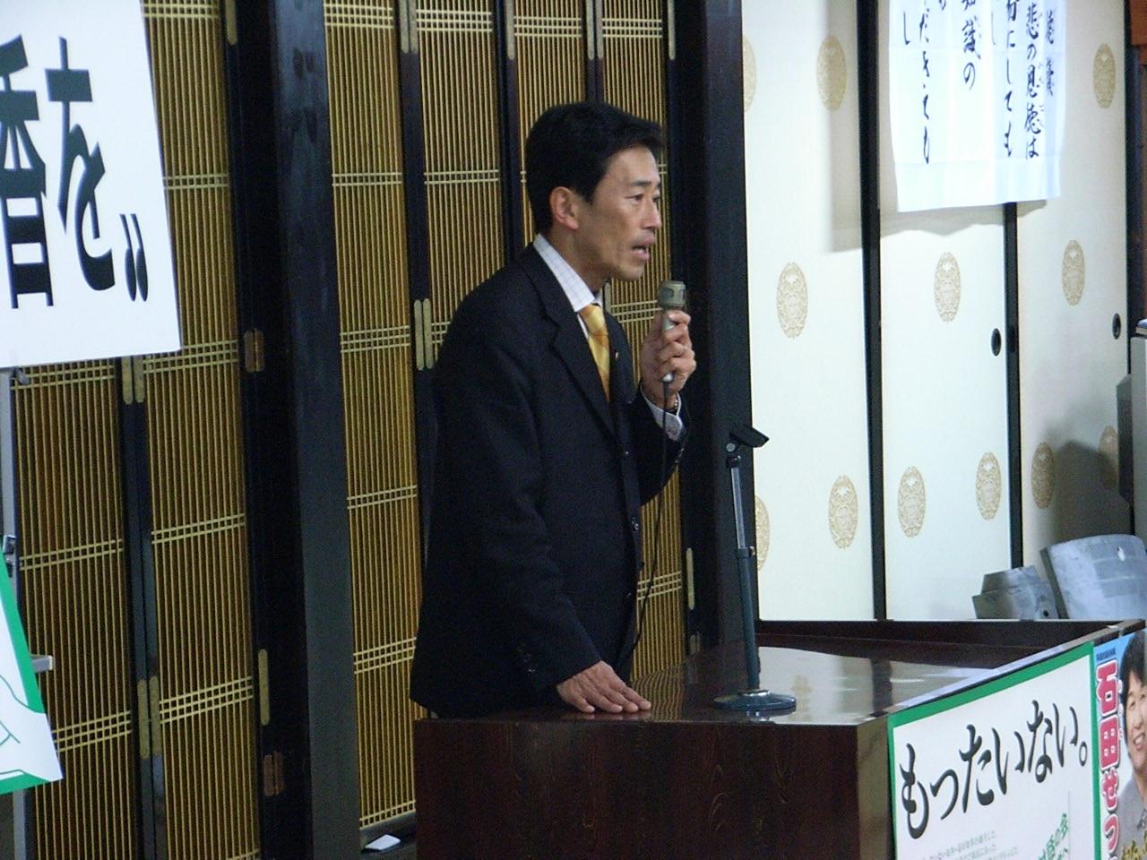 石田せつこ個人演説会(伊香)