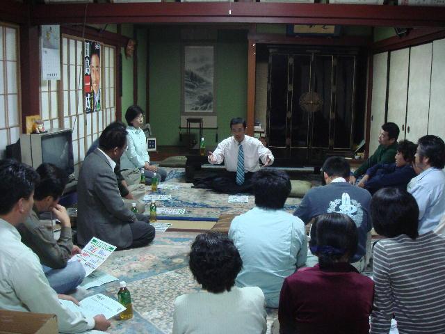 西浅井町塩津浜国政報告会