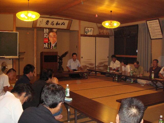 町・国政報告会(西浅井町)