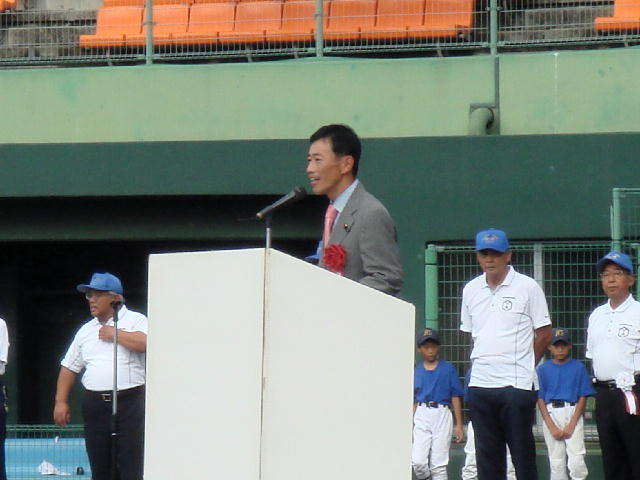 第27回姉妹城都市 彦根市・高松市親善少年野球交歓大会開会式