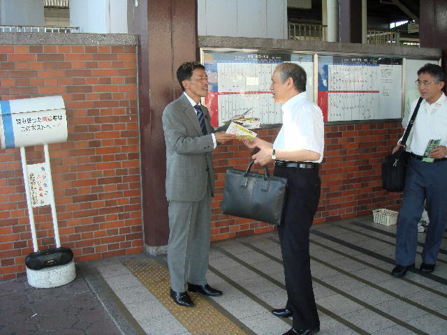 JR南彦根駅立ち