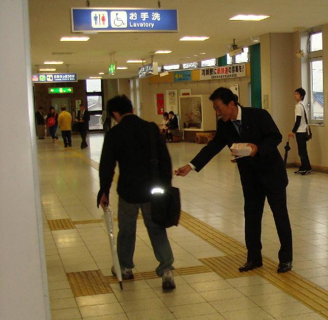 駅立ち(JR河瀬駅)