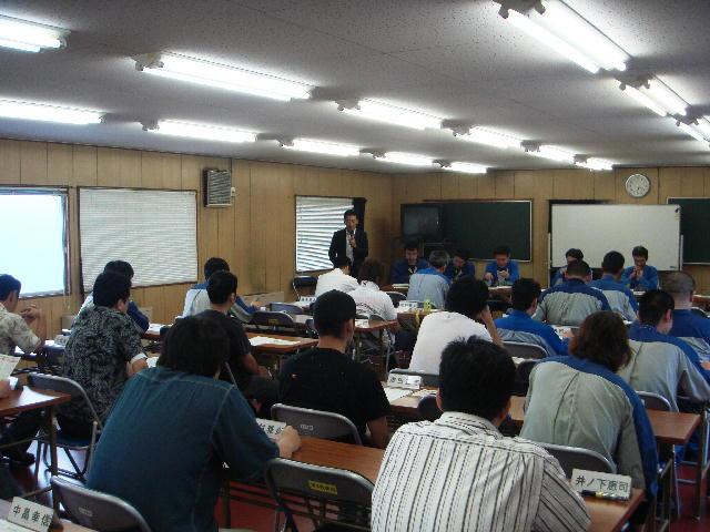 日本電気硝子労組職場集会