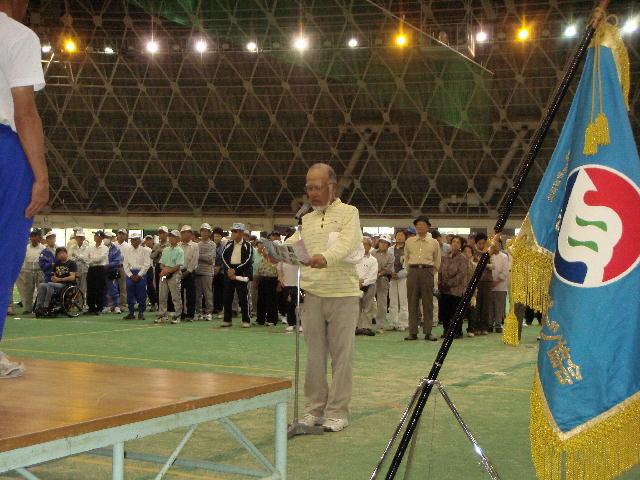 滋賀県障害者スポーツ協会第5回グラウンド・ゴルフ選手権大会開会式(1)