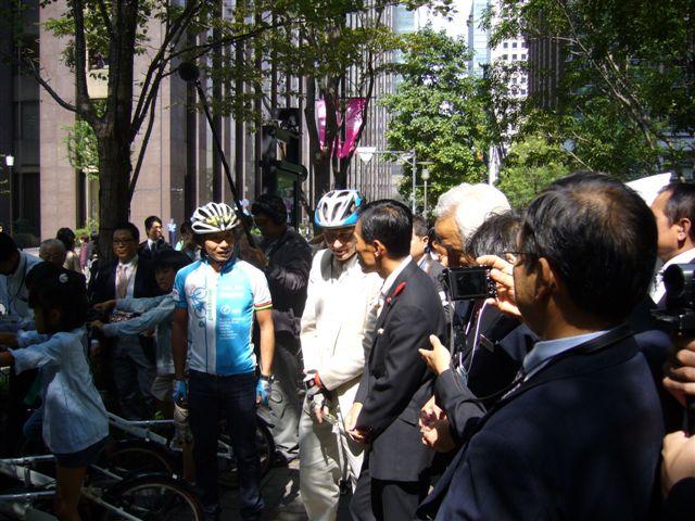 コミュニティサイクル・キックオフイベント(デンマーク大使、片山右京さんと