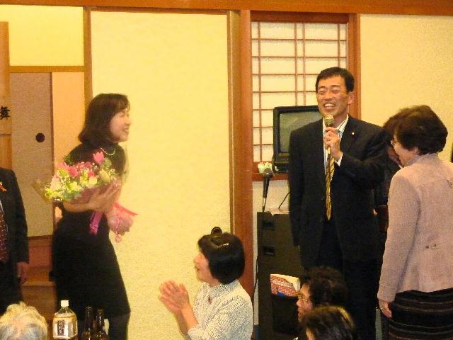 後援会女性部「りんごの会」副大臣就任祝い懇親会(2)
