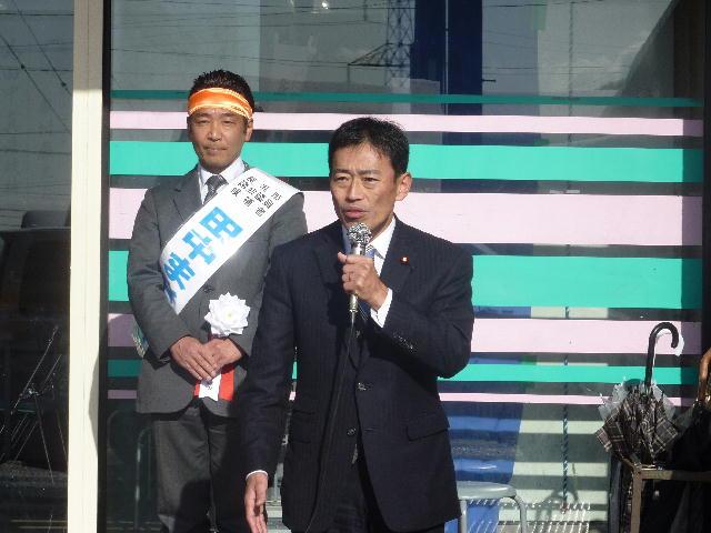 長浜市議会議員選挙 田中まさひろ出陣式