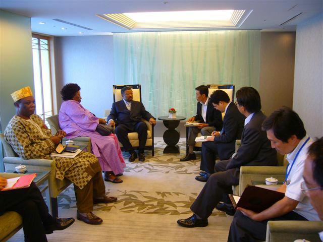 ピン・アフリカ連合委員長との会談