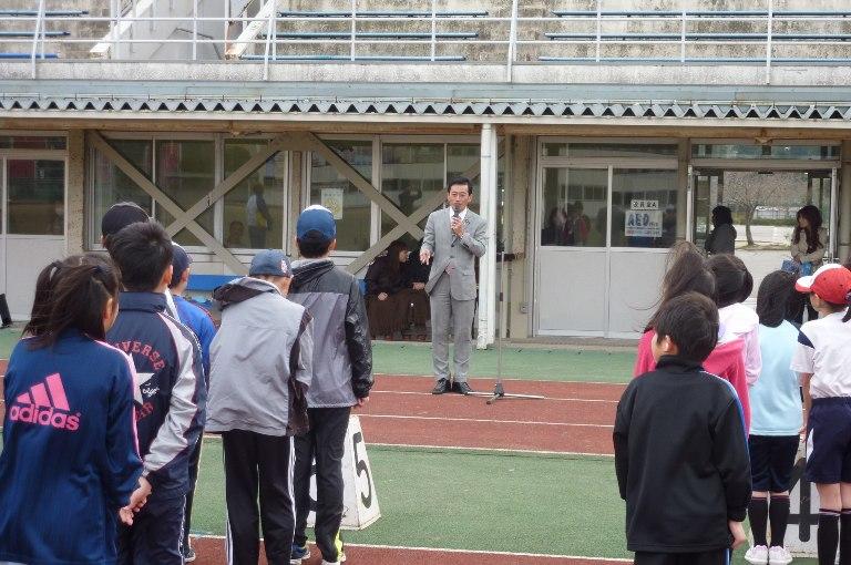 彦根JSC・陸上クラブ(4〜6年の部)開講式