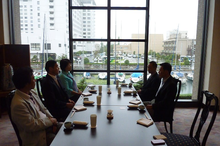 長浜市選出県議・市議との朝食会