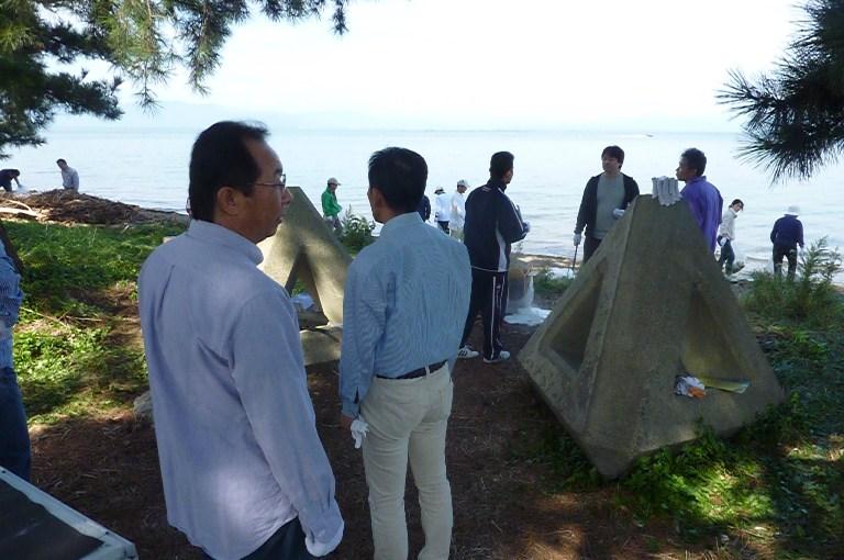 連合滋賀「2011びわ湖クリーンキャンペーン」激励