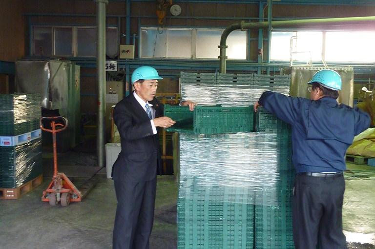 プラスチックリサイクル工場視察