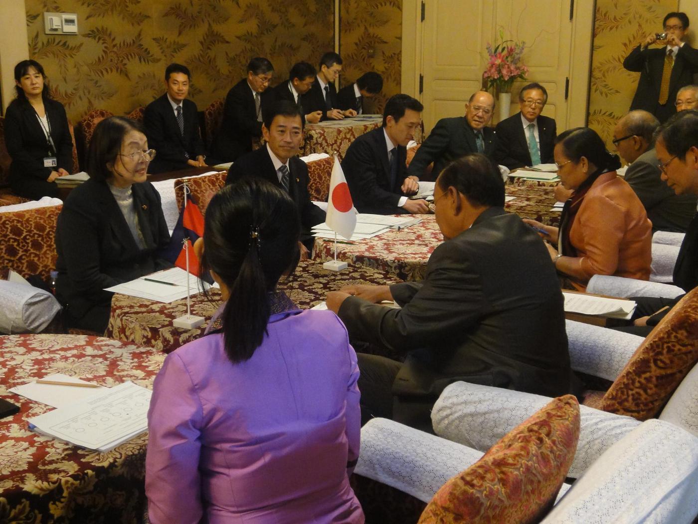カンボジア王国国民議会第7委員会一行の表敬