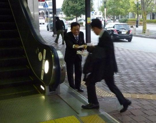 彦根駅にて