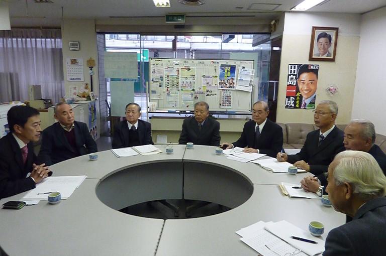 滋賀県市町村職員年金者連盟との懇談