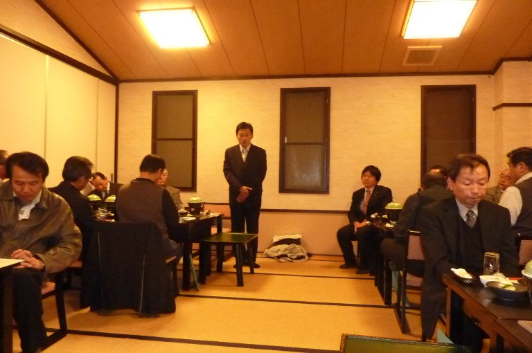 県議会議員江畑弥八郎新年会