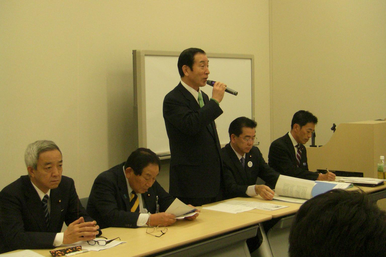 東日本大震災・災害廃棄物広域処理推進議員連盟総会