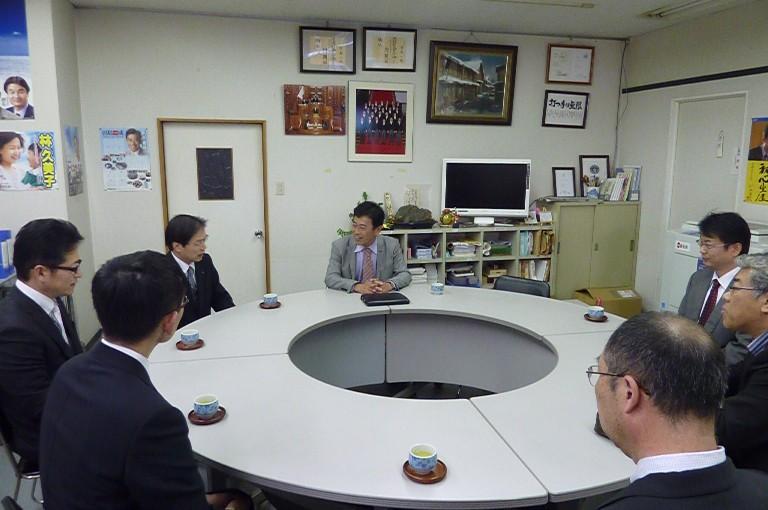 滋賀県東部地区郵便局長会との懇談