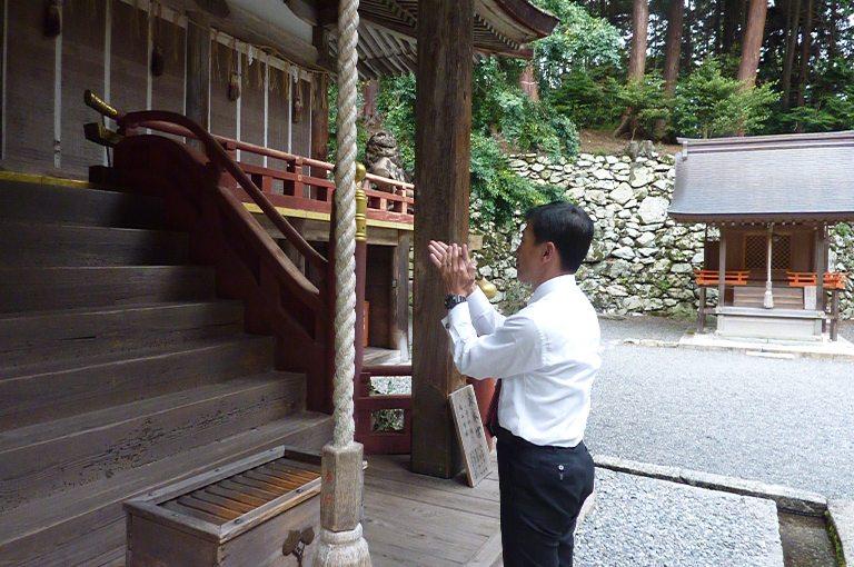 日吉大社参拝