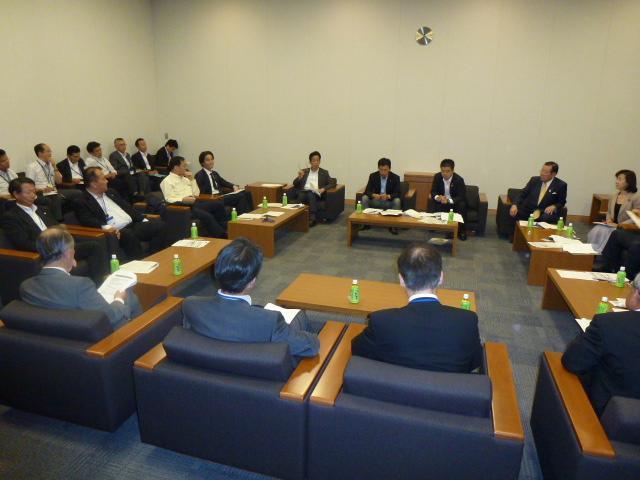 滋賀県市長会との意見交換