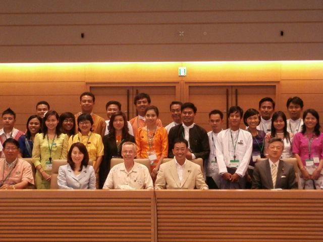 ミャンマー若手政治家訪日団の表敬訪問と意見交換