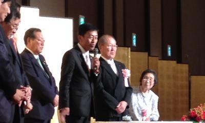 上野幸夫氏 旭日小綬章受章記念祝賀会