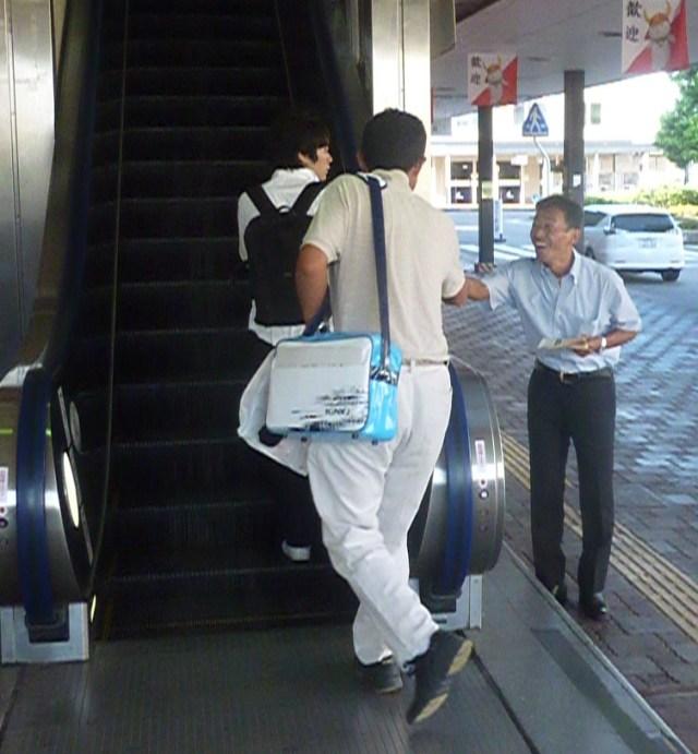 JR彦根駅にて駅立ち
