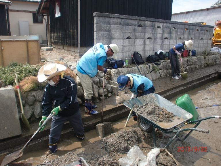 台風18号高島災害復旧ボランティア活動(1)