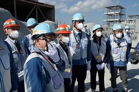 東電福島第1原子力発電書視察