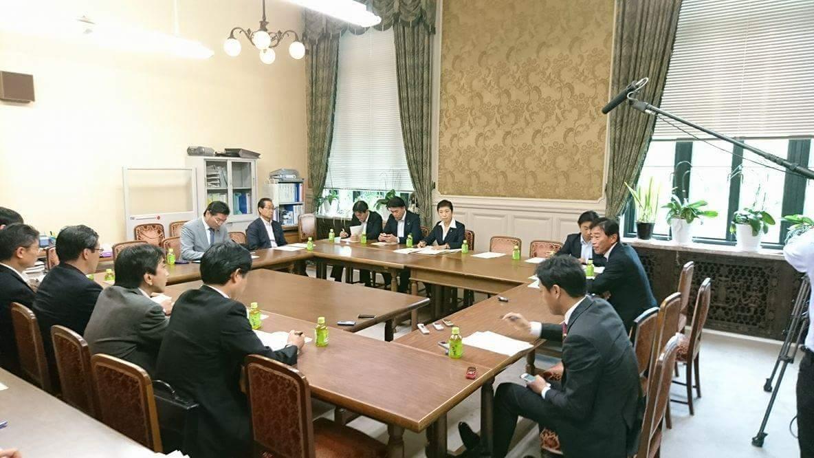 民進党自治体議員局役員会議