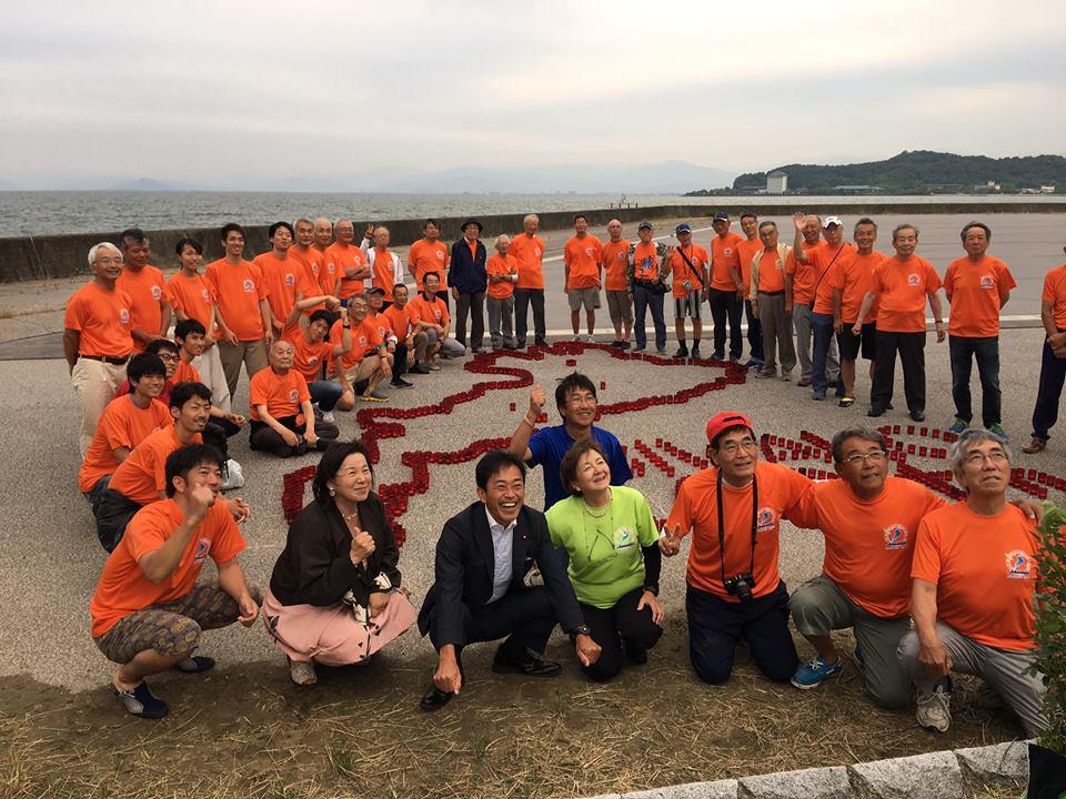 琵琶湖周航の歌記念事業「なぞり周航」彦根受入れ式典