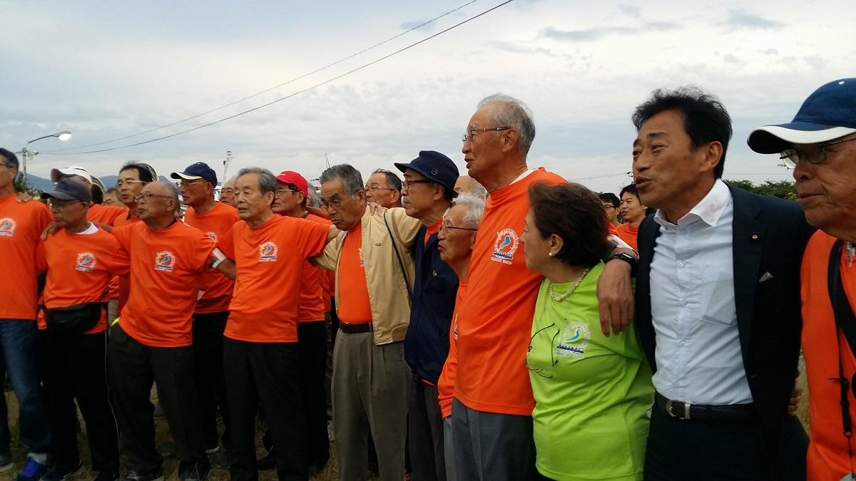 琵琶湖周航の歌記念事業「なぞり周航」彦根受入れ式典2