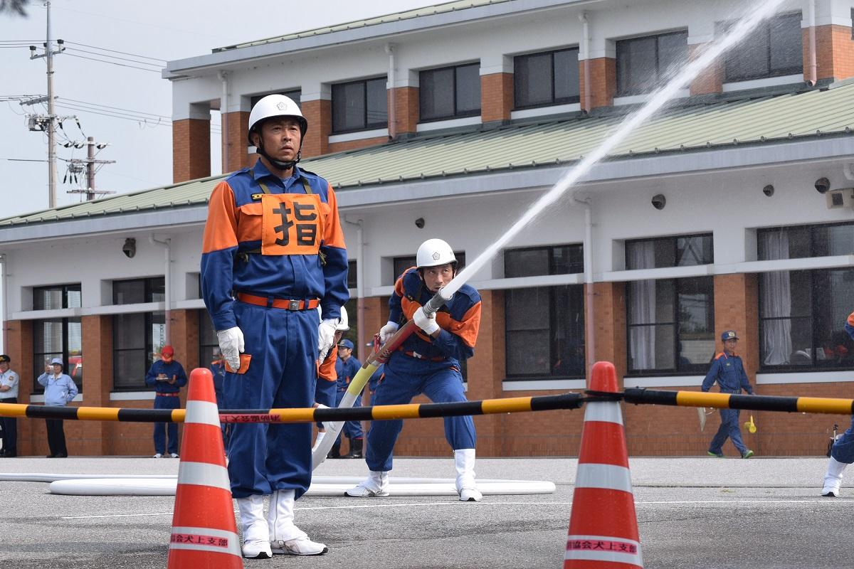 ポン走激励 犬上郡代表 多賀町消防団