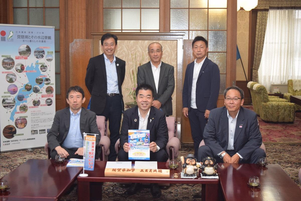 三日月知事訪問