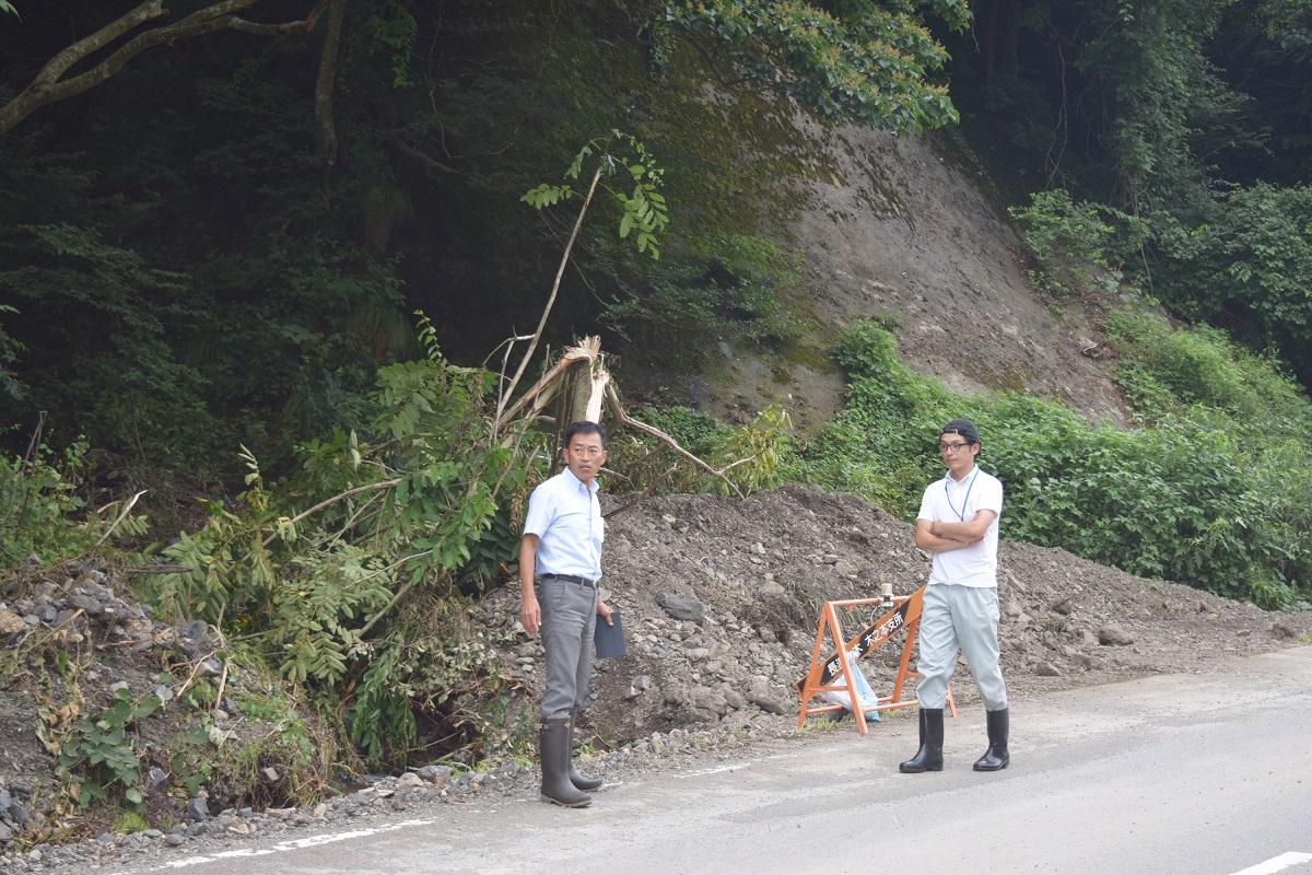 台風5号被害現地調査2