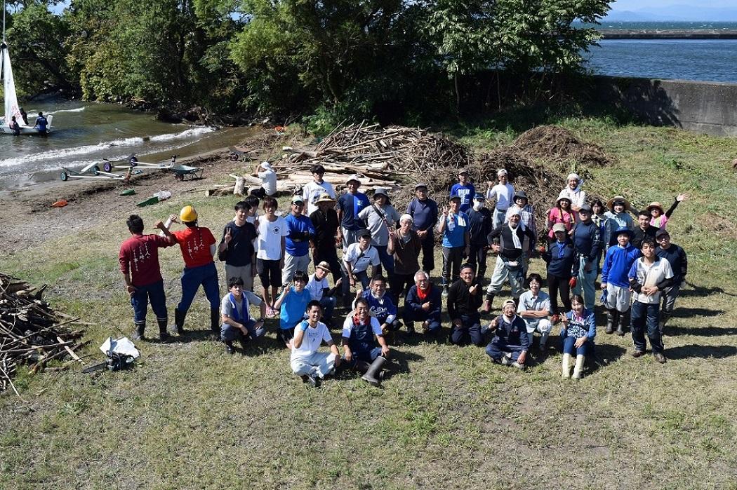 琵琶湖岸清掃  2