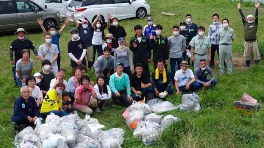 琵琶湖清掃